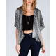 LOTTIE & HOLLY Linear Ethnic Print Womens Kimono Jacket