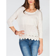 H.I.P. Crochet Trim Womens Top