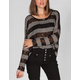 FULL TILT Stripe Womens Hachi Knit Crop Top
