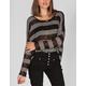 FULL TILT Stripe Womens Hachi Knit Crop Top