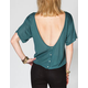 FULL TILT Button Back Womens Top