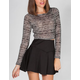 FULL TILT Womens Fitted Hachi Crop Top