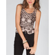 CHLOE K Ethnic Print Womens Lattice Back Tank