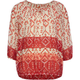 FULL TILT Ethnic Print Girls Peasant Top