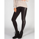 JUST ONE Faux Leather Side Womens Leggings