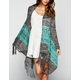 FULL TILT Ethnic Fringe Womens Wrap Sweater