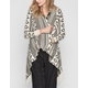 FULL TILT Ethnic Pattern Womens Lightweight Wrap Sweater
