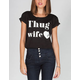 YOUNG & RECKLESS Thug Wife Womens Crop Tee