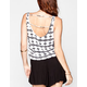 FULL TILT Ethnic Print Womens Swing Tank