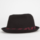 BLUE CROWN Buffalo Plaid Band Mens Fedora