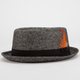 BLUE CROWN Mens Tweed Pork Pie Hat
