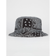 BLUE CROWN Reversible Paisley Mens Bucket Hat