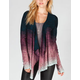 TWISTED ANGELS Womens Ombre Pointelle Wrap Sweater
