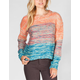 TWISTED ANGELS Marled Ombre Stripe Womens Sweater