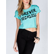 YOUNG & RECKLESS Enough Said Womens Crop Tee