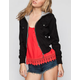 FULL TILT Womens Hooded Twill Bomber Jacket