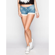 ALMOST FAMOUS Crochet Trim Womens Denim Shorts