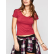 FULL TILT Essential Womens Crop Tee