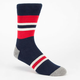 GLOBE Medium Stripe Mens Crew Socks