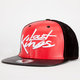 LAST KINGS Tag Faux Leather Snapback Hat