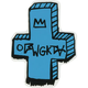 ODD FUTURE Cross Sticker