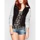 FULL TILT Fleece Hooded Womens Twill Jacket