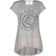 FULL TILT  Sun & Moon Girls Cage Back Hi Low Tee