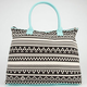 Ethnic Print Tote Bag