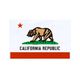 QUAGMIRE California Flag Small Sticker