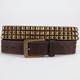 Pyramid Stud Distressed Faux Leather Belt