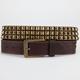Pyramid Stud Distressed Faux Leather Belt