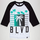 BLVD My City Mens Baseball Tee