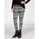 FULL TILT Ethnic Print Womens Pleated Skinny Pants