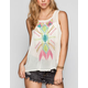 ALI & KRIS Embroidered Chiffon Womens Tank