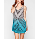 ANGIE Ethnic Print Slip Dress