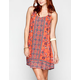 ANGIE Boho Print Slip Dress