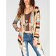 FULL TILT Ethnic Stripe Womens Wrap Sweater