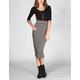 FULL TILT Stripe Bodycon Midi Skirt