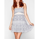 CHLOE K Paisley Crochet Inset Dress