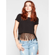 FULL TILT Womens Fringe Crop Top