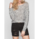 RAZZLE DAZZLE Open Weave Womens Crop Sweater