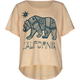 FULL TILT Cali Bear Girls Oversized Crop Tee
