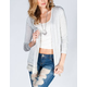 H.I.P. Lace Trim Womens Hachi Knit Cardigan