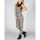 FIRE Ethnic Print Womens Challis Overalls