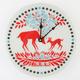 Deer Flowers Wall Clock