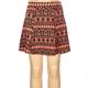 FULL TILT Ethnic Print Girls Ponte Skater Skirt