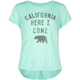 FULL TILT Cali Here I Come Girls Knot Back Tee