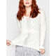 FULL TILT Crochet Inset Womens Sweater