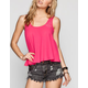EYESHADOW Lace Inset Womens Swing Tank
