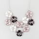 FULL TILT 2 Row Flower Statement Necklace